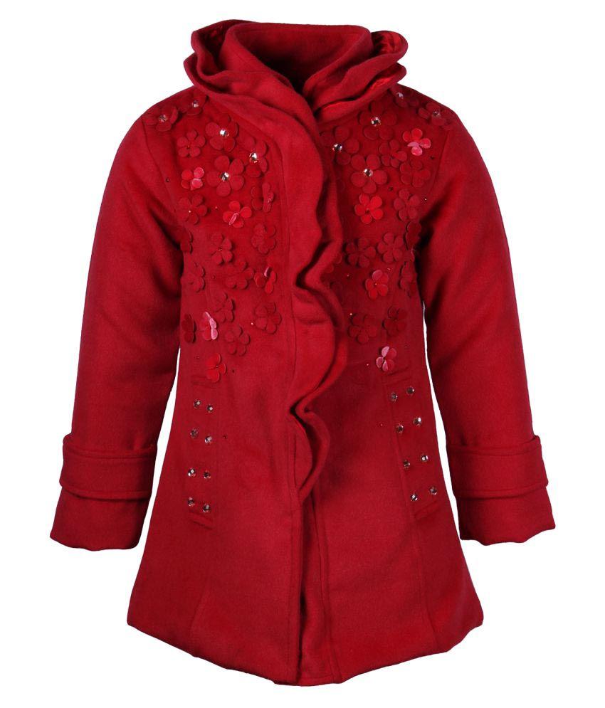 Cutecumber Red Polyester  Winter Coat