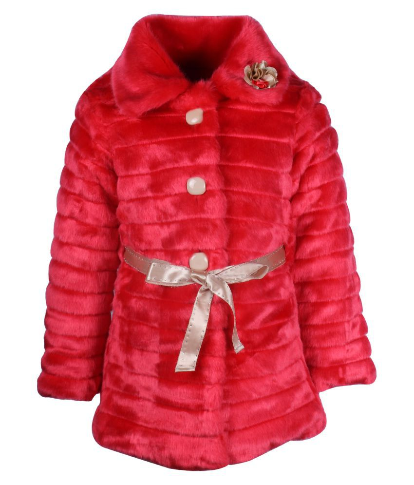 Cutecumber Red Polyester Winter Jacket