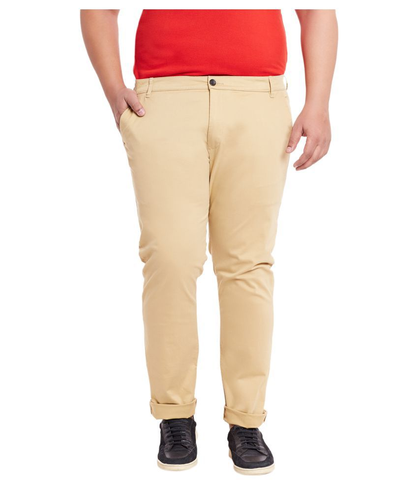 Mike & Smith Khaki Regular Flat Trousers