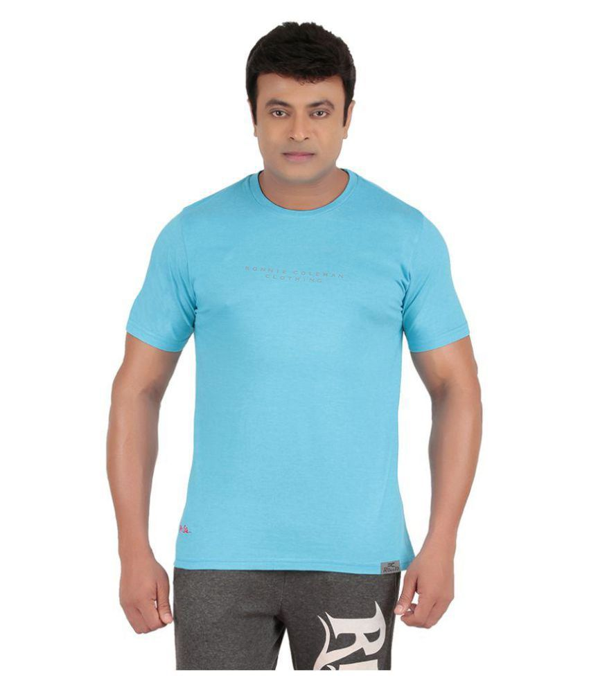 Ronnie Coleman Blue Cotton T Shirt