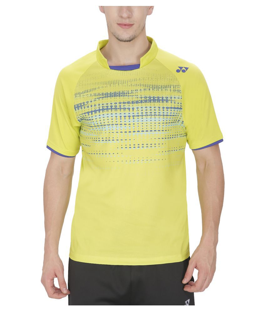Yonex Badminton Mens Tshirt PM6-12111-Lime Punch (Small)