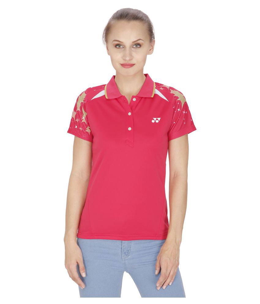 b62f45655 Yonex Badminton Women s Tshirt s PL6-20265-Raspberry (Medium)  Buy Online  at Best Price on Snapdeal