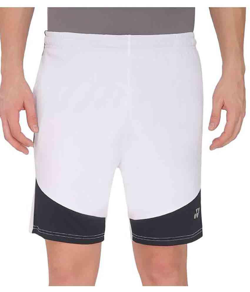 Yonex White Polyster Shorts