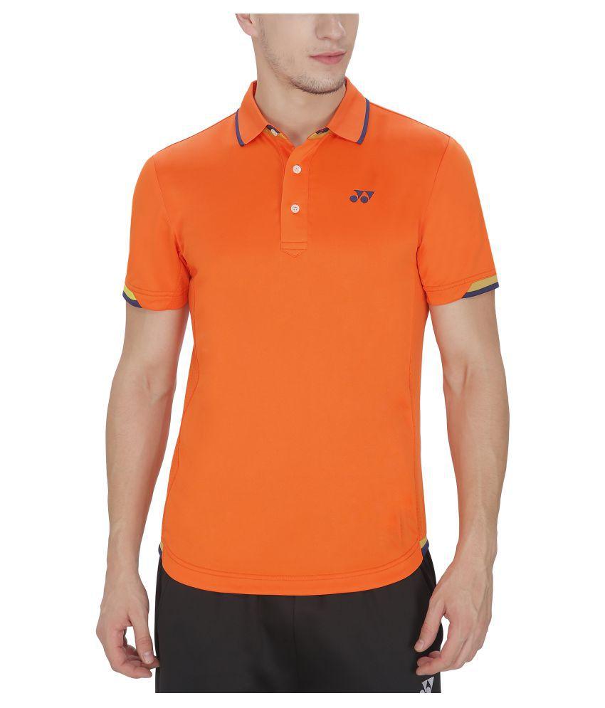 Yonex Men's Red Badminton T-Shirt