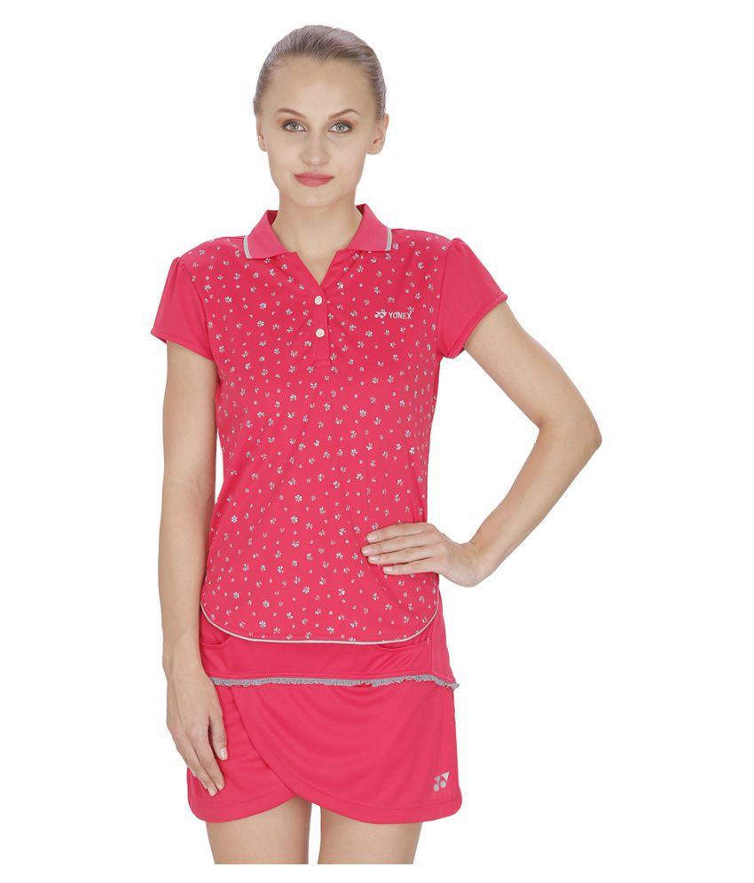 Yonex Pink Polyster Tshirt