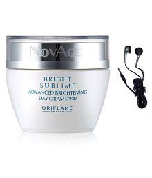 Oriflame NovAge Bright Sublime Day Cream With Maxell Earbuds