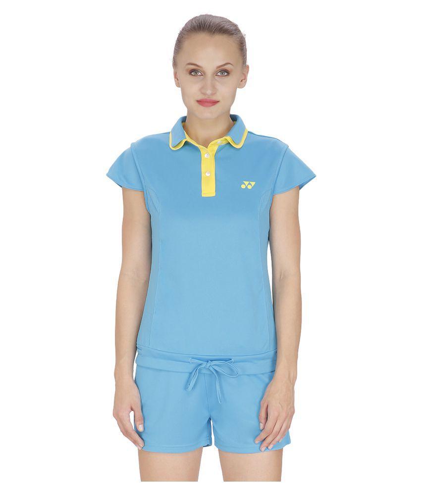 Yonex Blue Polyester Polo T Shirts