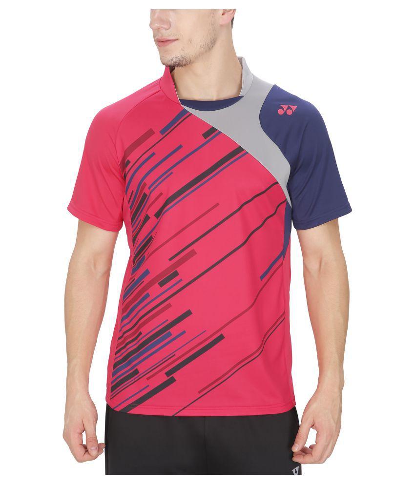 Yonex Pink Polyester T Shirts