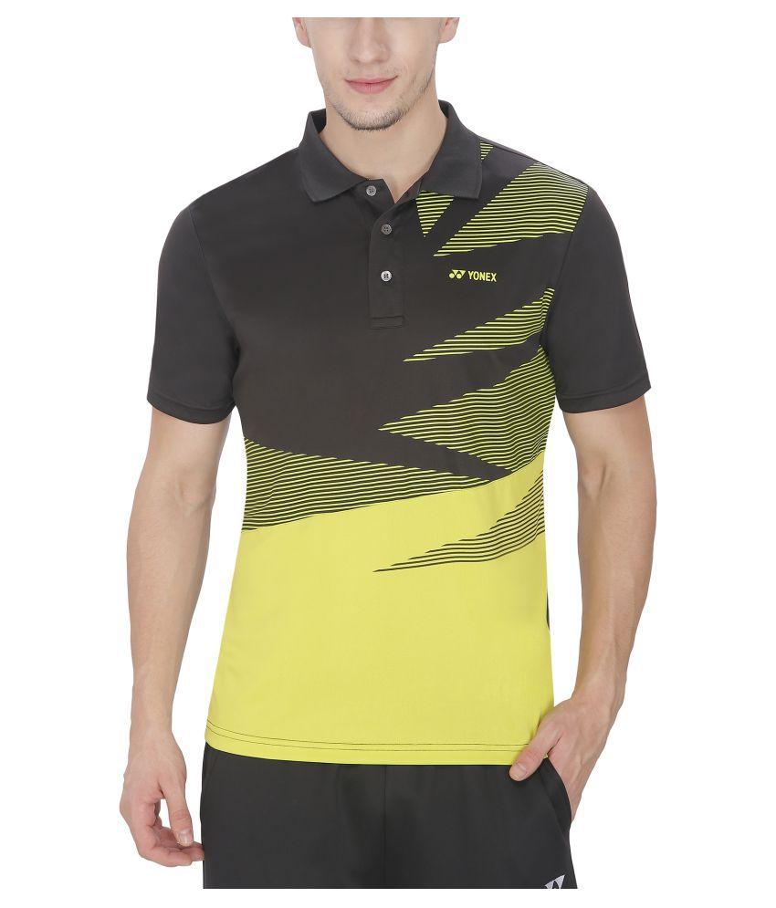 Yonex Multicolour Polyester Polo T-Shirt