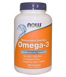 Now Foods Now Foods, Omega-3, 200 Softgels 200 Gm Unfalvoured