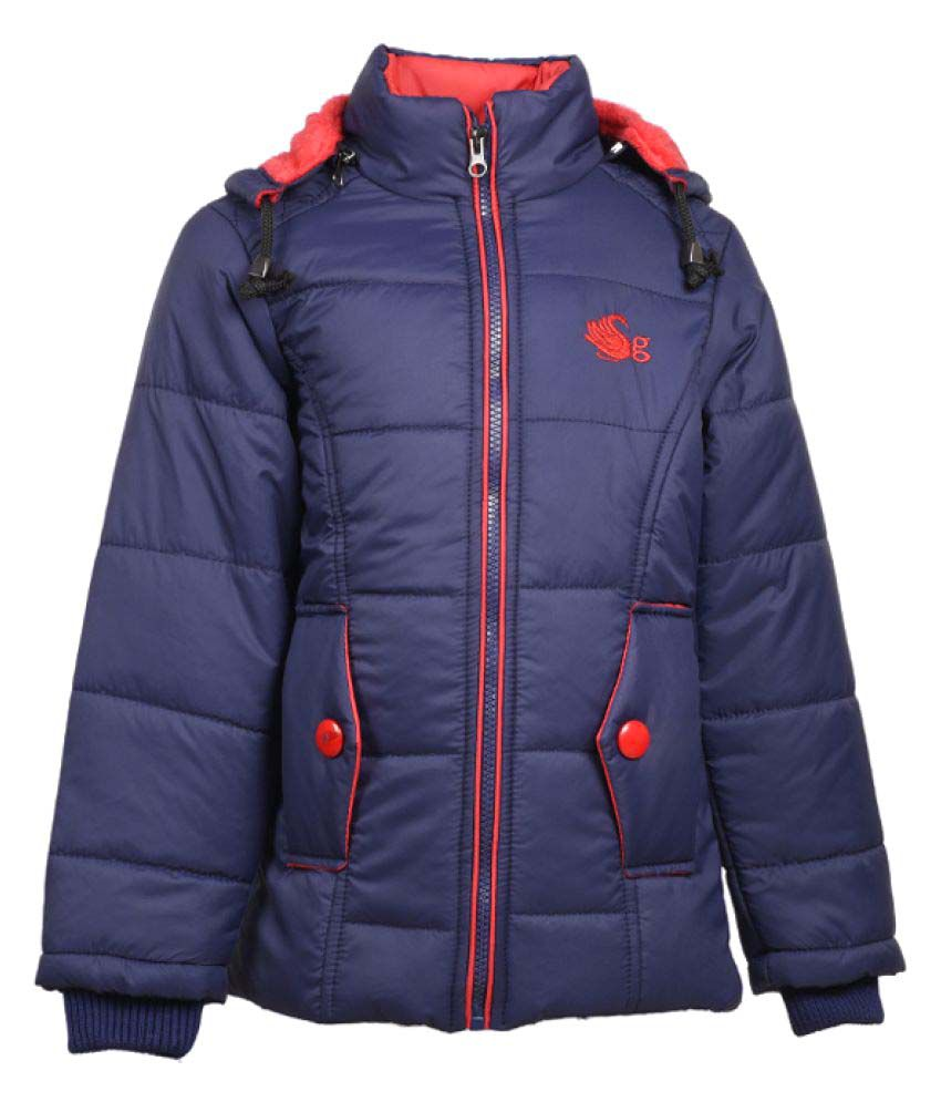 MSG Navy Full Sleeve Jacket For Girls