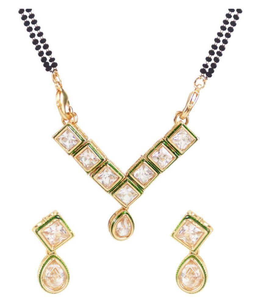 Jewels Gehna Golden Alloy Mangalsutra Set