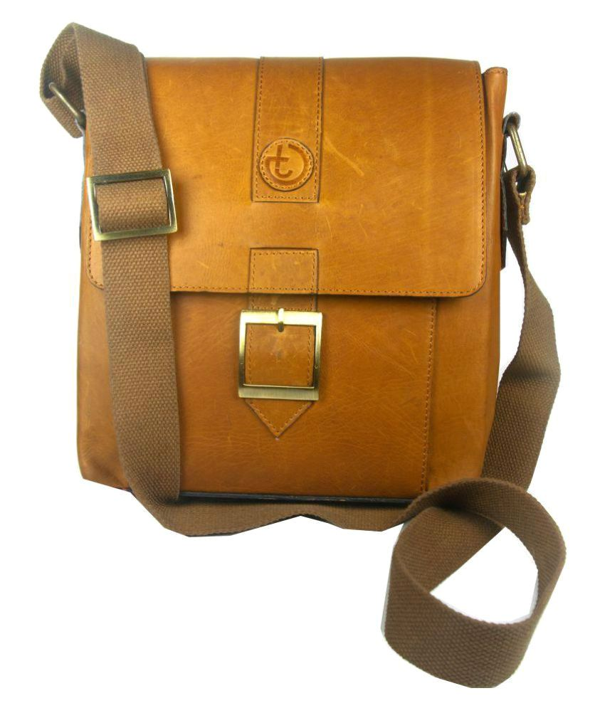 fab1d5f88a Trendy Guys Tan Leather Casual Messenger Bag - Buy Trendy Guys Tan Leather  Casual Messenger Bag Online at Low Price - Snapdeal