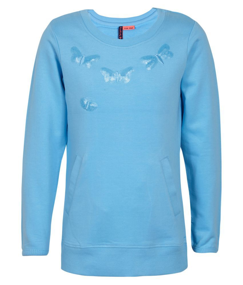 Superyoung Blue Cotton Blend Sweatshirt