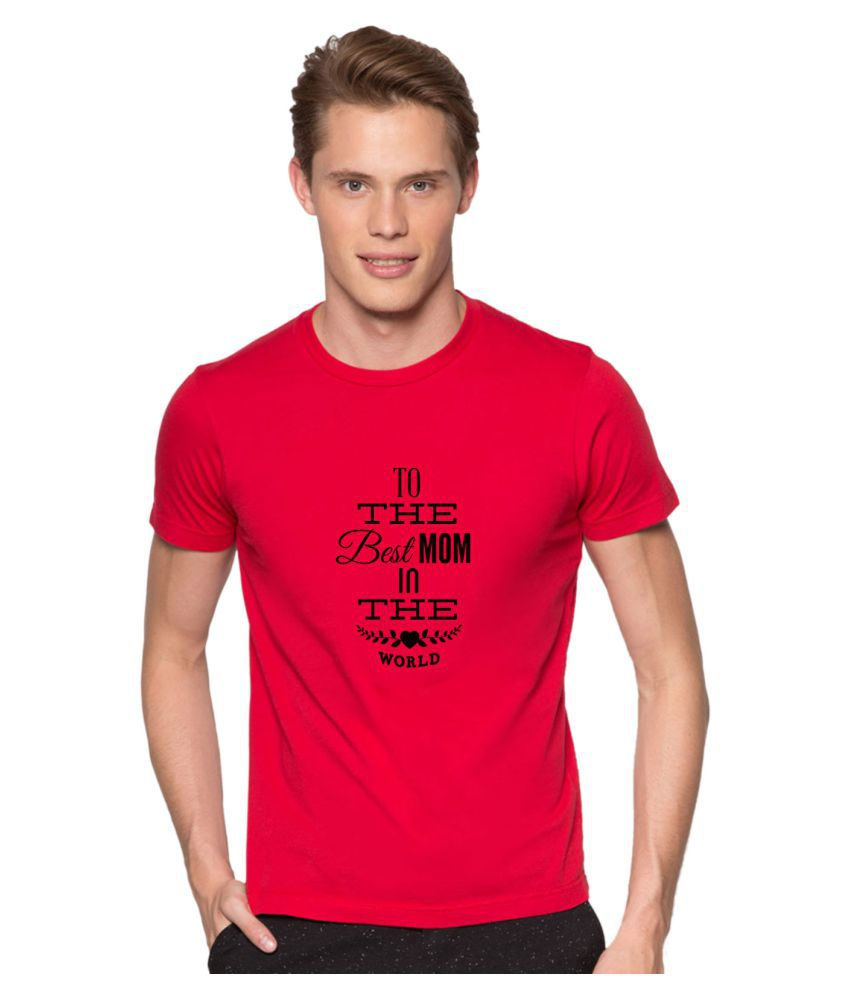Redfool Fashions Red Round T-Shirt