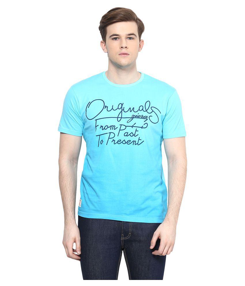 Ziera Blue Round T-Shirt