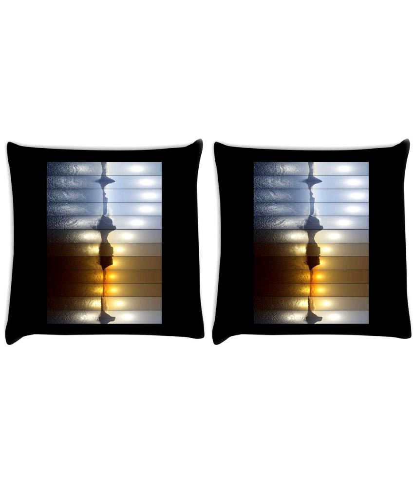 Snoogg Set of 2 Polyester Cushion Covers
