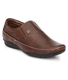 John Karsun Brown Party Artificial Leather Formal Shoes