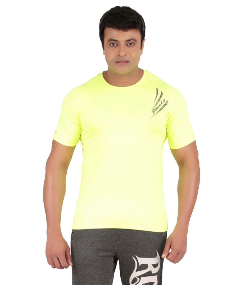 Ronnie Coleman Yellow Polyester T Shirt