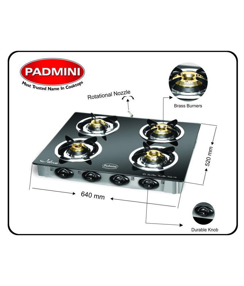Padmini Cs 4gt 4 Burner Manual Gas Stove Price In India Buy