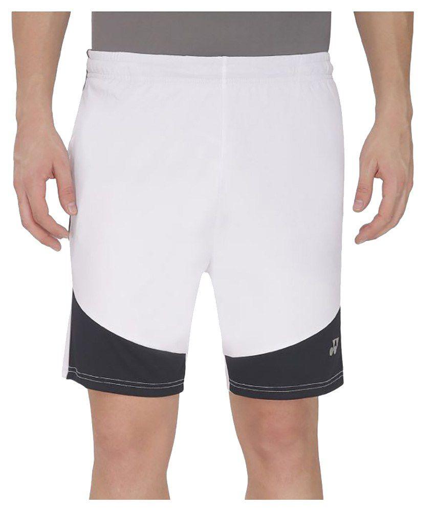 Yonex White Polyester Shorts
