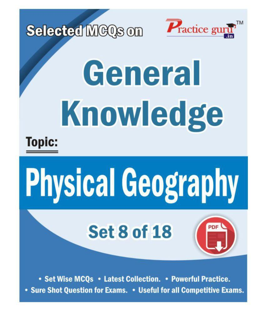 Selected MCQs on GK - Physical Geography Set 8 of 18 License/Redemption Code - Online