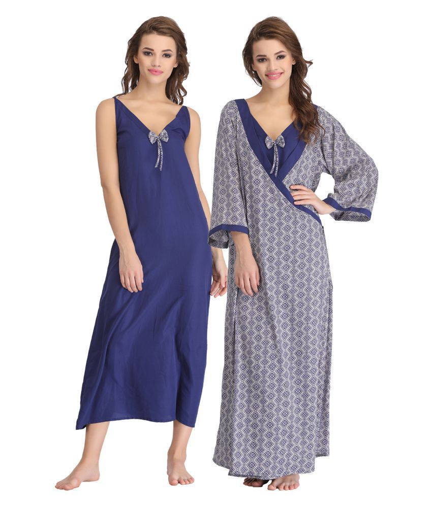 Buy Clovia Cotton Nighty   Night Gowns Online at Best Prices in India -  Snapdeal 829bd079c