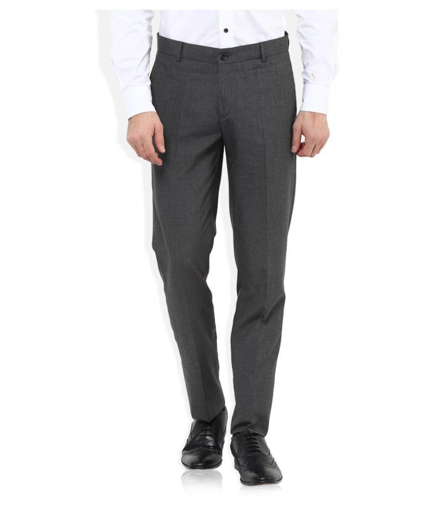John Players Grey Skinny Flat Trousers