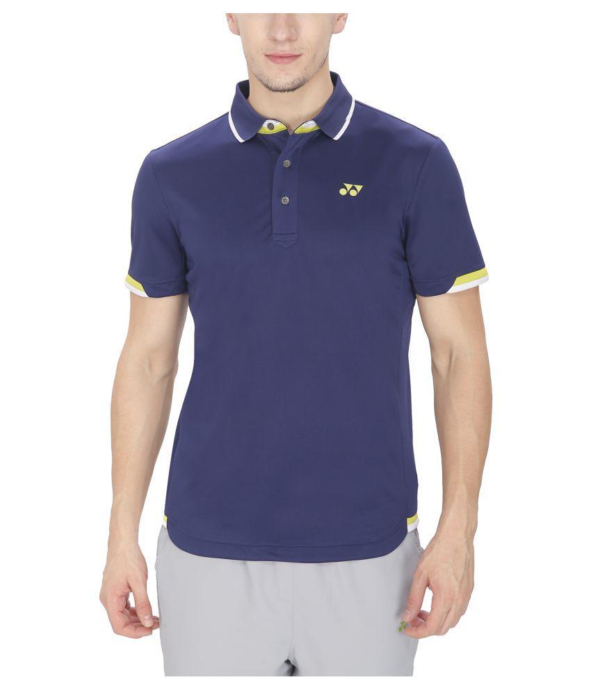 Yonex Blue Polyster Tshirt