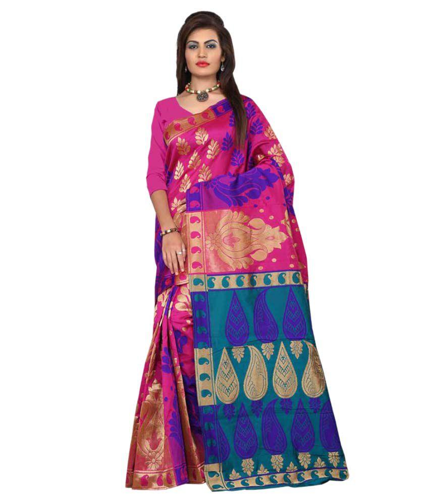 Aksh Fashion Multicoloured Art Silk Saree