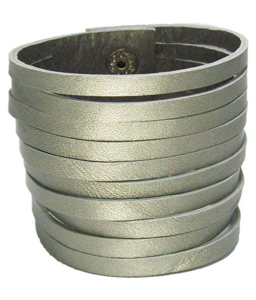 Transparent Silver Brass Bracelet