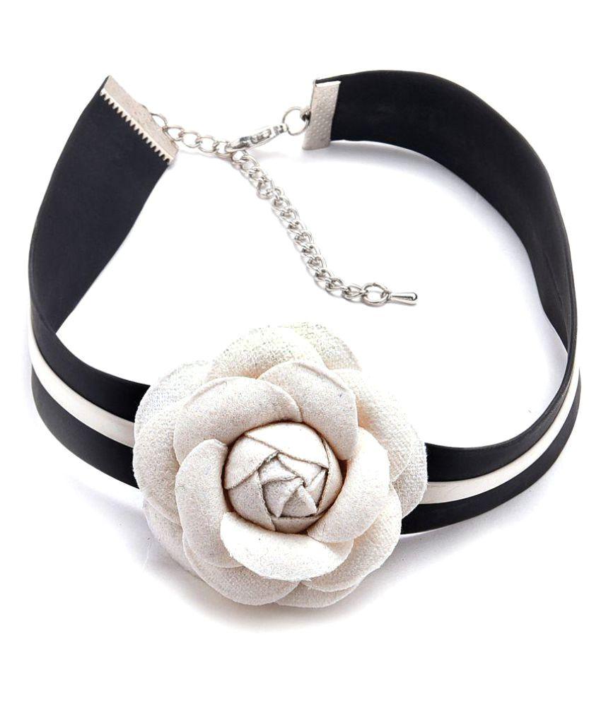 Diana Korr Multicolor Fabric Choker Necklace