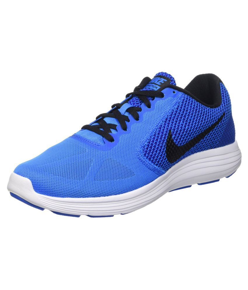 ed3c04a16b1e Nike Revolution 3 Running Shoes Blue - Buy Nike Revolution 3 Running Shoes  Blue Online at Best Prices in India on Snapdeal