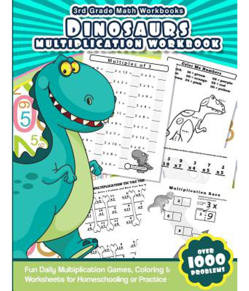 3rd Grade Math Workbooks Dinosaurs Multiplication Workbook: Buy 3rd ...
