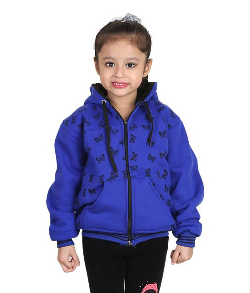 Qeboo Blue Comfortable Woollen Jacket