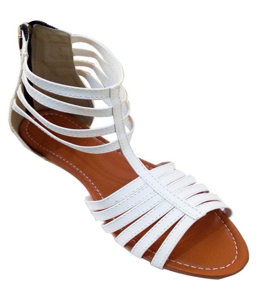 Fashionitz White Flats