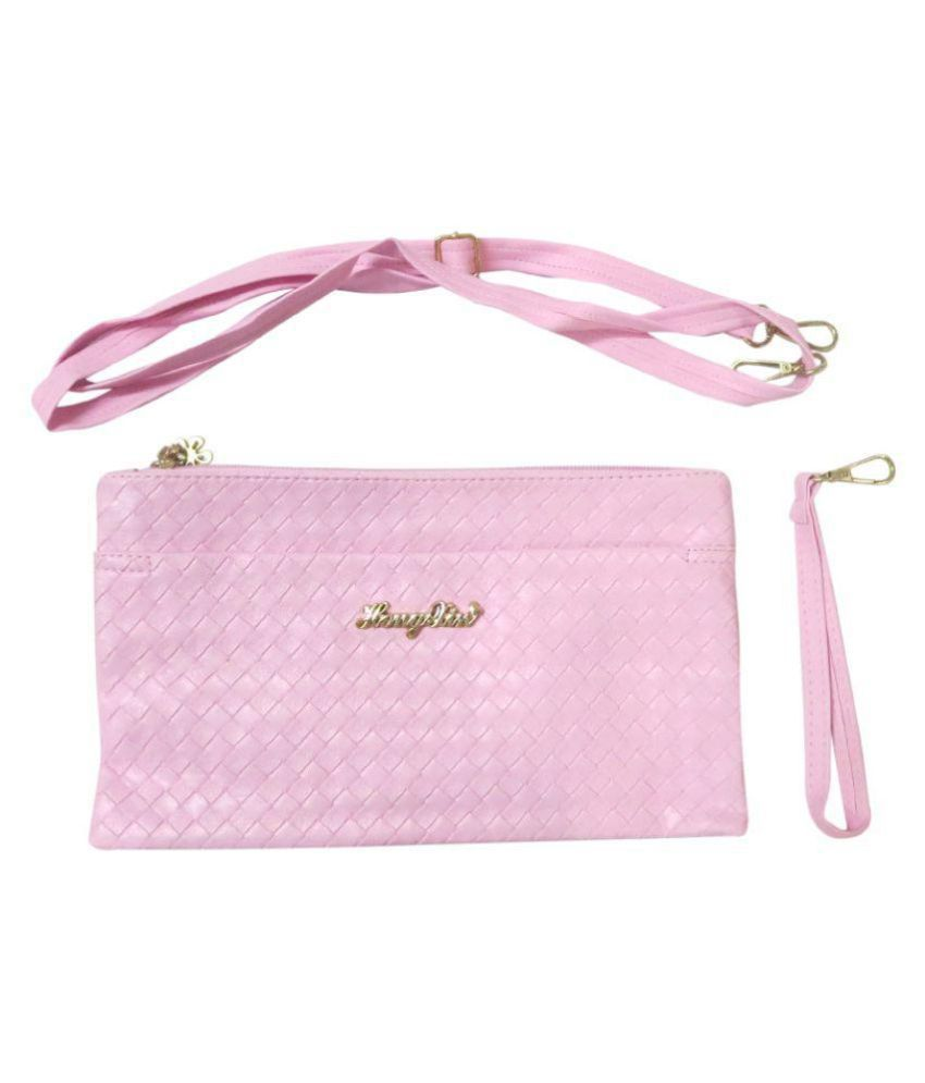 Little Genius Pink Non Leather Sling Bag
