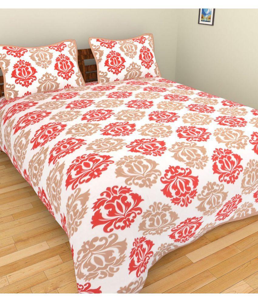 Uniquechoice King Cotton Multi Traditional Bed Sheet