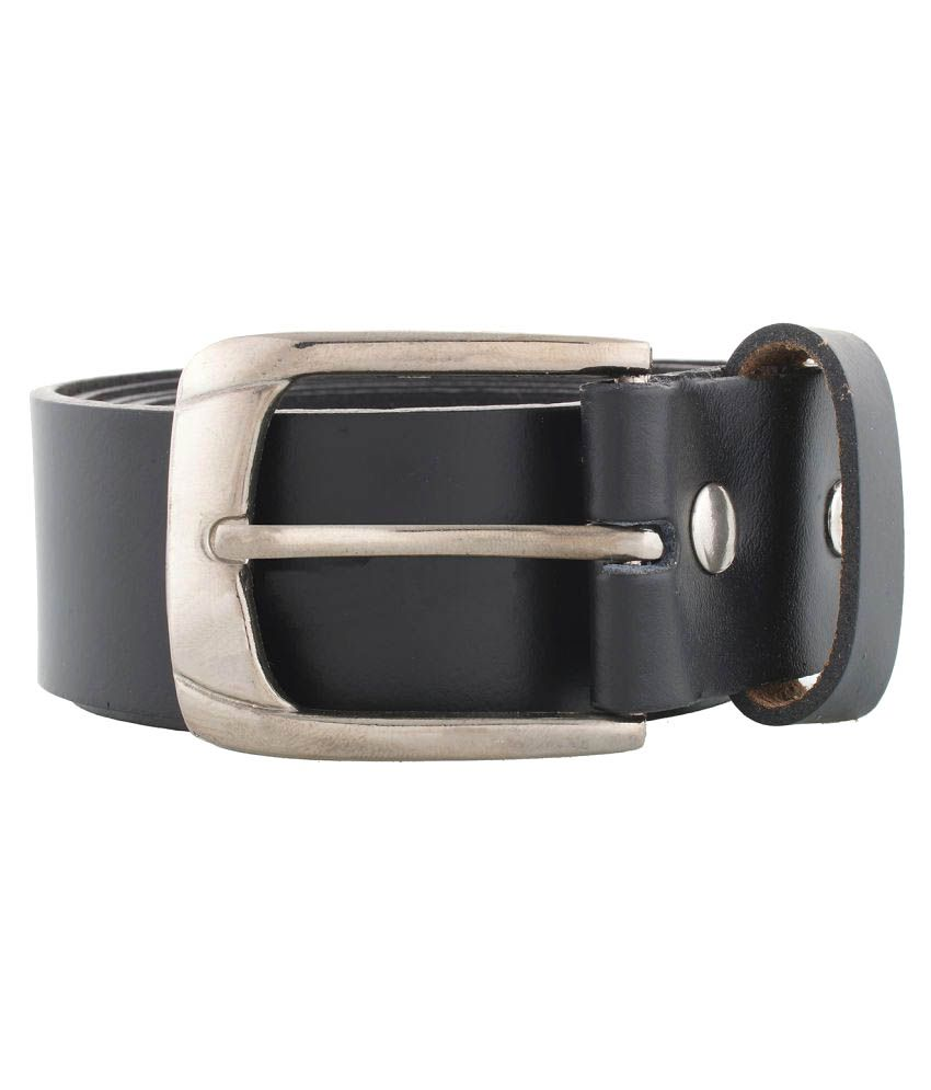 WCL Black Leather Casual Belts