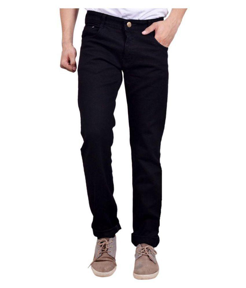Finger's Black Regular Fit Jeans
