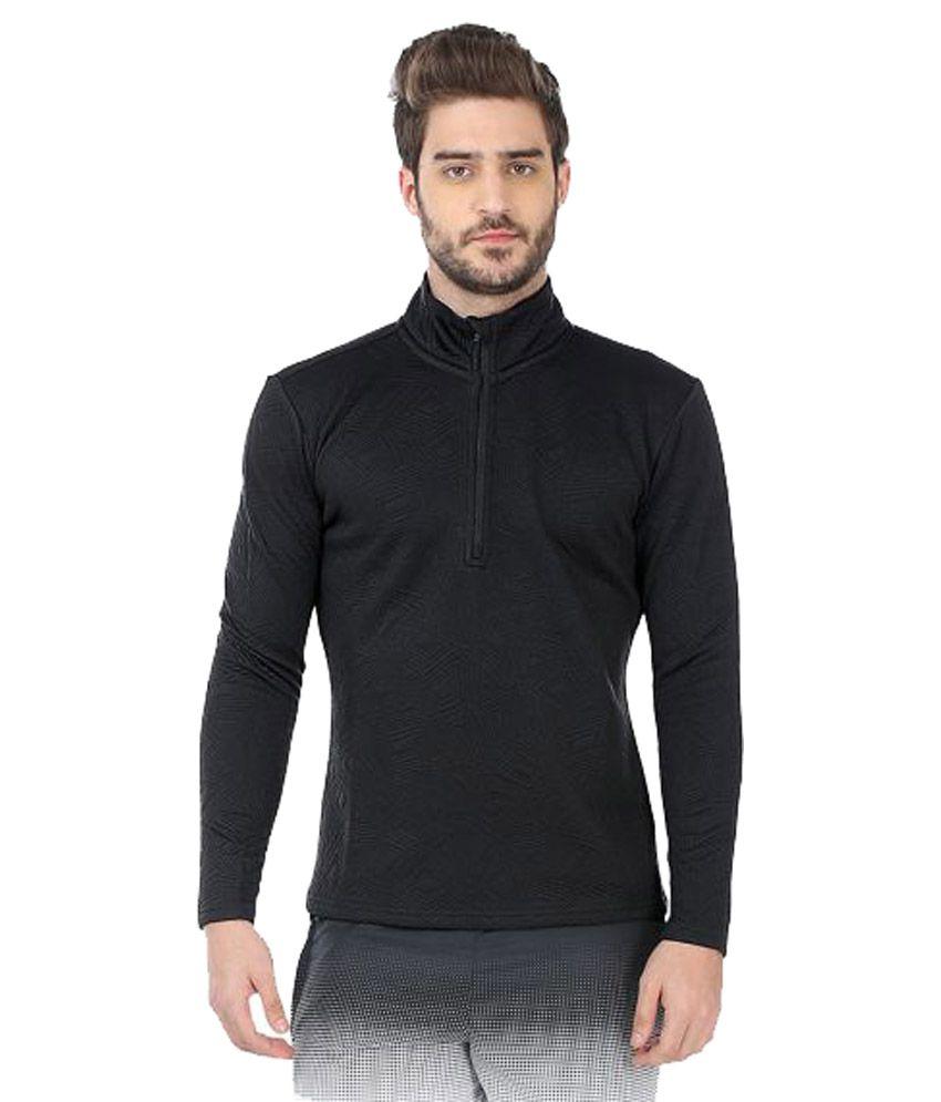 Fitrr Black Polyester T Shirt