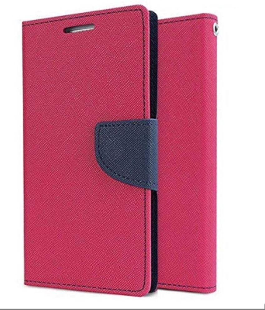 eef815c1beb Samsung Galaxy J7 Prime Flip Cover by OM - Pink - Flip Covers Online at Low  Prices