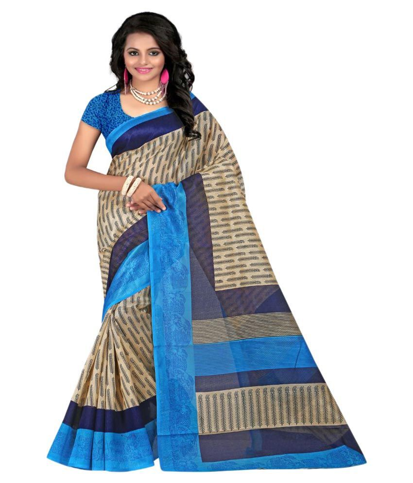 Luga Multicoloured Bhagalpuri Silk Saree