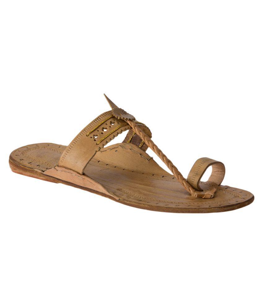 Ramayana Brown Flat Ethnic Footwear