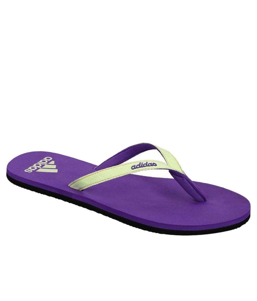 Adidas Purple Slippers