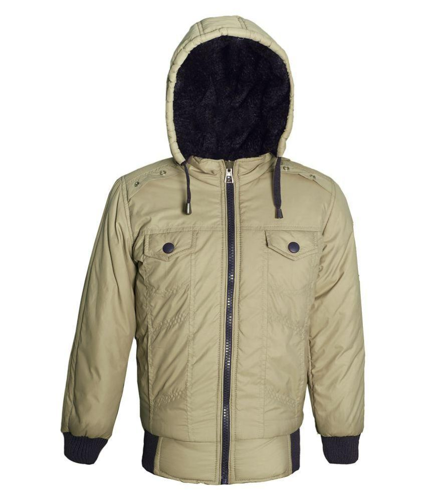 Naughty Ninos Beige Hooded Bomber Jacket