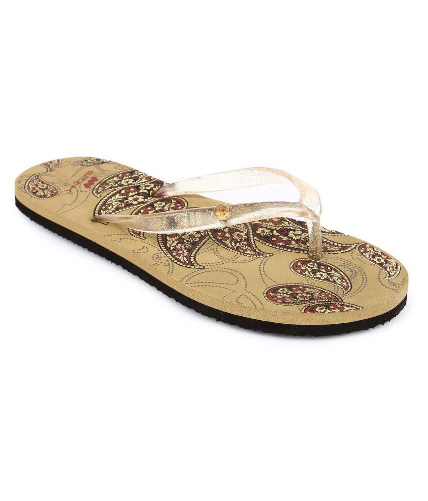 SPUNK Beige Slippers