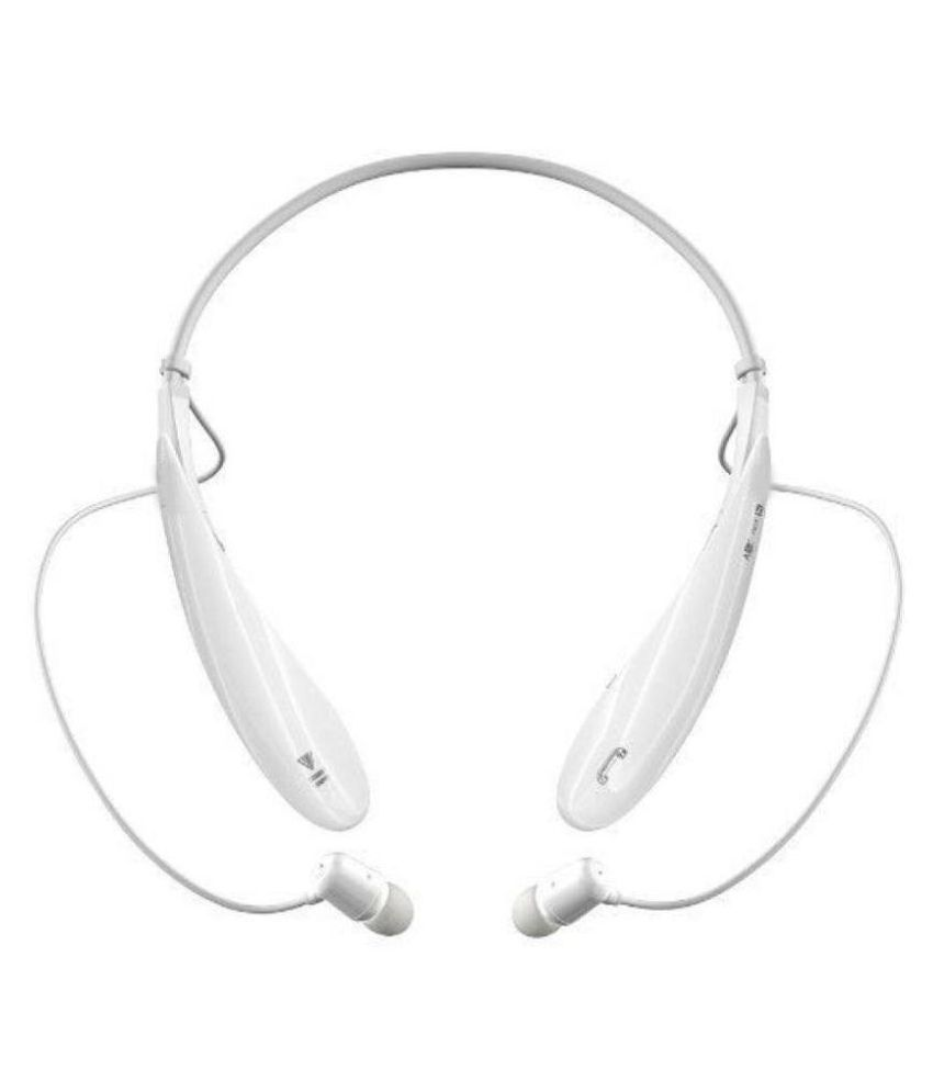 Digital Comm Wireless Bluetooth Headphone White
