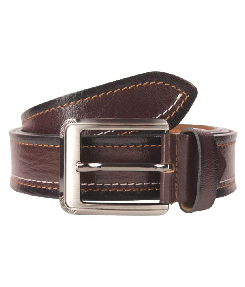 Umda Brown Leather Formal Belts