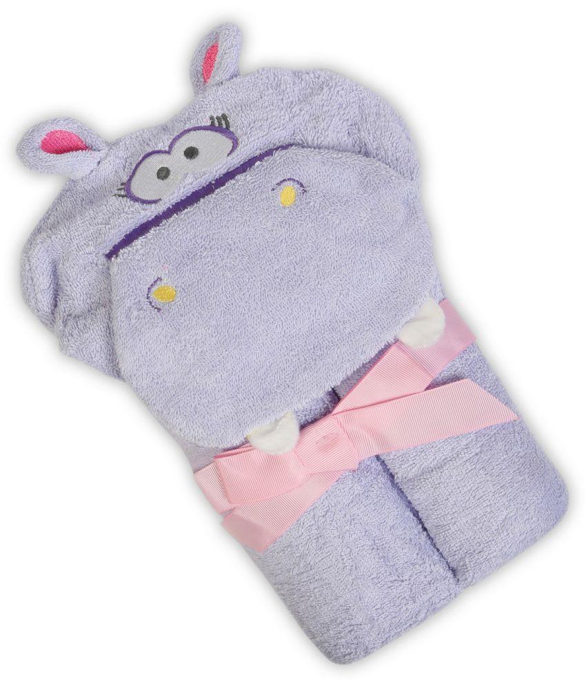 Baby Oodles Purple Cotton Bath Towels 1 Baby Towel